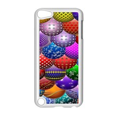 Fun Balls Pattern Colorful And Ornamental Balls Pattern Background Apple iPod Touch 5 Case (White)
