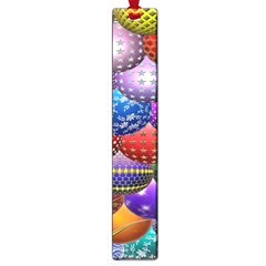Fun Balls Pattern Colorful And Ornamental Balls Pattern Background Large Book Marks