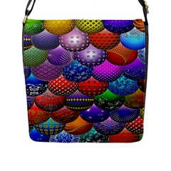 Fun Balls Pattern Colorful And Ornamental Balls Pattern Background Flap Messenger Bag (L)