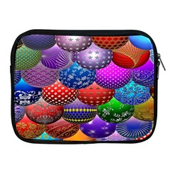 Fun Balls Pattern Colorful And Ornamental Balls Pattern Background Apple Ipad 2/3/4 Zipper Cases