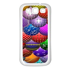 Fun Balls Pattern Colorful And Ornamental Balls Pattern Background Samsung Galaxy S3 Back Case (White)