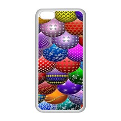 Fun Balls Pattern Colorful And Ornamental Balls Pattern Background Apple Iphone 5c Seamless Case (white)