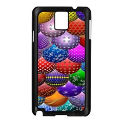 Fun Balls Pattern Colorful And Ornamental Balls Pattern Background Samsung Galaxy Note 3 N9005 Case (Black)