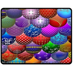 Fun Balls Pattern Colorful And Ornamental Balls Pattern Background Double Sided Fleece Blanket (medium)