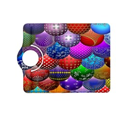 Fun Balls Pattern Colorful And Ornamental Balls Pattern Background Kindle Fire Hd (2013) Flip 360 Case