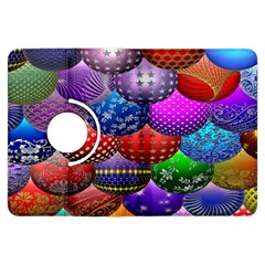 Fun Balls Pattern Colorful And Ornamental Balls Pattern Background Kindle Fire HDX Flip 360 Case