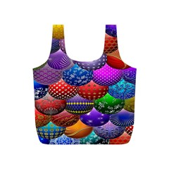 Fun Balls Pattern Colorful And Ornamental Balls Pattern Background Full Print Recycle Bags (S)