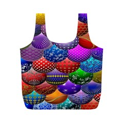 Fun Balls Pattern Colorful And Ornamental Balls Pattern Background Full Print Recycle Bags (M)