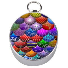 Fun Balls Pattern Colorful And Ornamental Balls Pattern Background Silver Compasses