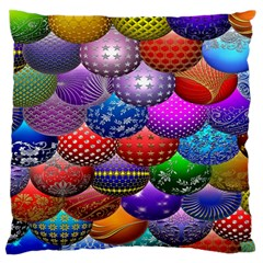 Fun Balls Pattern Colorful And Ornamental Balls Pattern Background Large Flano Cushion Case (Two Sides)