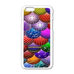 Fun Balls Pattern Colorful And Ornamental Balls Pattern Background Apple iPhone 6/6S White Enamel Case