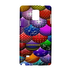 Fun Balls Pattern Colorful And Ornamental Balls Pattern Background Samsung Galaxy Note 4 Hardshell Case