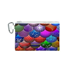 Fun Balls Pattern Colorful And Ornamental Balls Pattern Background Canvas Cosmetic Bag (s)
