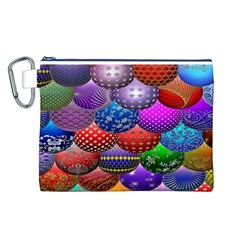 Fun Balls Pattern Colorful And Ornamental Balls Pattern Background Canvas Cosmetic Bag (L)