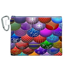 Fun Balls Pattern Colorful And Ornamental Balls Pattern Background Canvas Cosmetic Bag (xl)