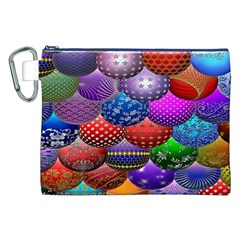 Fun Balls Pattern Colorful And Ornamental Balls Pattern Background Canvas Cosmetic Bag (XXL)