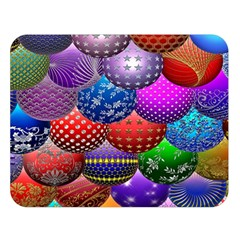 Fun Balls Pattern Colorful And Ornamental Balls Pattern Background Double Sided Flano Blanket (Large)