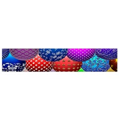 Fun Balls Pattern Colorful And Ornamental Balls Pattern Background Flano Scarf (small)