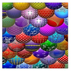 Fun Balls Pattern Colorful And Ornamental Balls Pattern Background Large Satin Scarf (square)