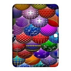 Fun Balls Pattern Colorful And Ornamental Balls Pattern Background Samsung Galaxy Tab 4 (10 1 ) Hardshell Case