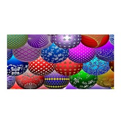 Fun Balls Pattern Colorful And Ornamental Balls Pattern Background Satin Wrap
