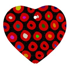 Polka Dot Texture Digitally Created Abstract Polka Dot Design Ornament (Heart)