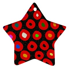 Polka Dot Texture Digitally Created Abstract Polka Dot Design Ornament (Star)