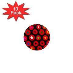 Polka Dot Texture Digitally Created Abstract Polka Dot Design 1  Mini Magnet (10 pack)