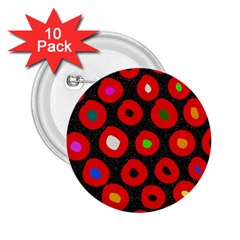 Polka Dot Texture Digitally Created Abstract Polka Dot Design 2.25  Buttons (10 pack)