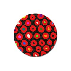 Polka Dot Texture Digitally Created Abstract Polka Dot Design Magnet 3  (round)
