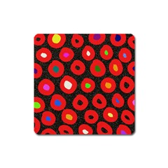 Polka Dot Texture Digitally Created Abstract Polka Dot Design Square Magnet