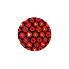 Polka Dot Texture Digitally Created Abstract Polka Dot Design Golf Ball Marker (10 pack)