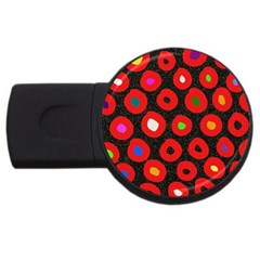 Polka Dot Texture Digitally Created Abstract Polka Dot Design USB Flash Drive Round (2 GB)