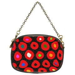 Polka Dot Texture Digitally Created Abstract Polka Dot Design Chain Purses (two Sides)