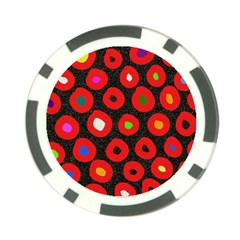Polka Dot Texture Digitally Created Abstract Polka Dot Design Poker Chip Card Guard (10 pack)