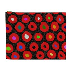 Polka Dot Texture Digitally Created Abstract Polka Dot Design Cosmetic Bag (XL)