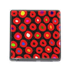 Polka Dot Texture Digitally Created Abstract Polka Dot Design Memory Card Reader (Square)