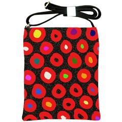 Polka Dot Texture Digitally Created Abstract Polka Dot Design Shoulder Sling Bags