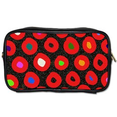 Polka Dot Texture Digitally Created Abstract Polka Dot Design Toiletries Bags