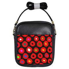 Polka Dot Texture Digitally Created Abstract Polka Dot Design Girls Sling Bags