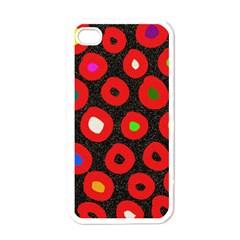 Polka Dot Texture Digitally Created Abstract Polka Dot Design Apple Iphone 4 Case (white)