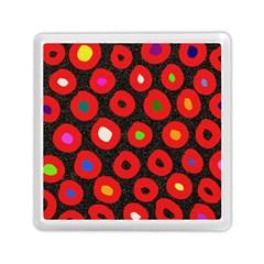 Polka Dot Texture Digitally Created Abstract Polka Dot Design Memory Card Reader (Square)