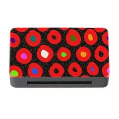 Polka Dot Texture Digitally Created Abstract Polka Dot Design Memory Card Reader With Cf