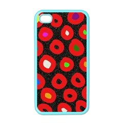 Polka Dot Texture Digitally Created Abstract Polka Dot Design Apple Iphone 4 Case (color)