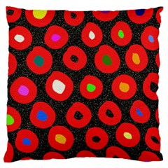 Polka Dot Texture Digitally Created Abstract Polka Dot Design Large Cushion Case (two Sides)