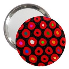 Polka Dot Texture Digitally Created Abstract Polka Dot Design 3  Handbag Mirrors