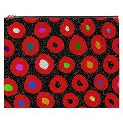 Polka Dot Texture Digitally Created Abstract Polka Dot Design Cosmetic Bag (XXXL)