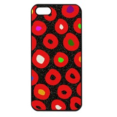 Polka Dot Texture Digitally Created Abstract Polka Dot Design Apple iPhone 5 Seamless Case (Black)