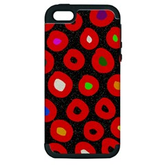 Polka Dot Texture Digitally Created Abstract Polka Dot Design Apple Iphone 5 Hardshell Case (pc+silicone)