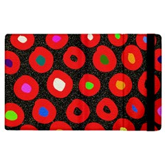 Polka Dot Texture Digitally Created Abstract Polka Dot Design Apple iPad 3/4 Flip Case